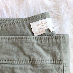 cf50053ac kate spade Pants - Kate Spade | Slim Straight Chino In Olive Green